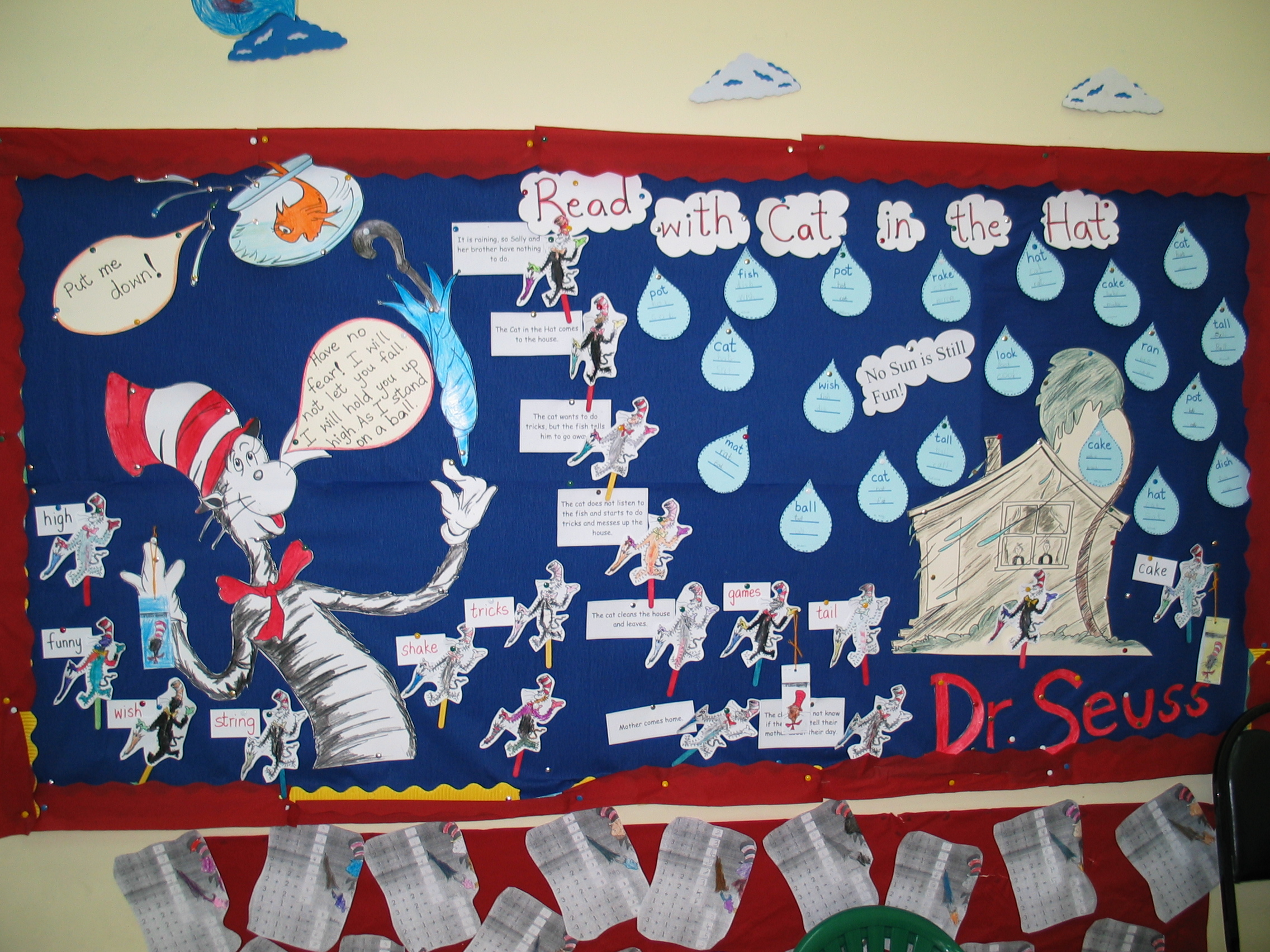 awesome Winter Bulletin Board Ideas For Teachers Part - 8: Cat in the Hat Bulletin Board