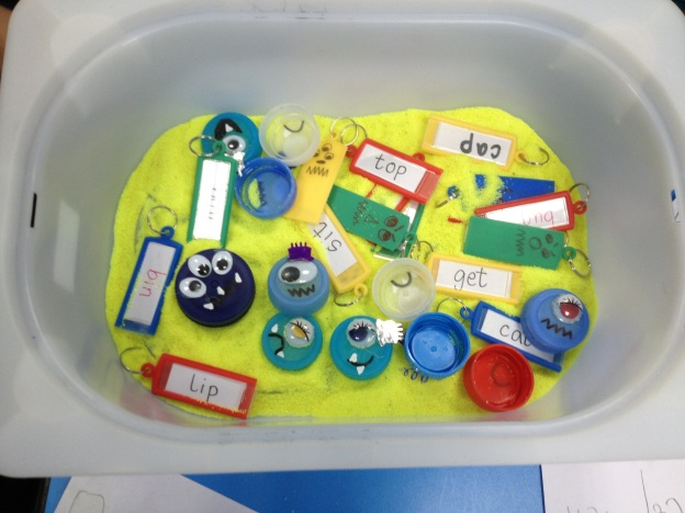 Monster Key Chain CVC Sensory Tub